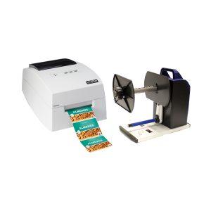 Bundle of LX500e Color Label Printer + RW-7 Rewinder