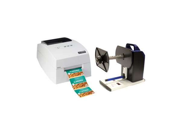 Bundle of LX500e Color Label Printer + RW-7 Rewinder